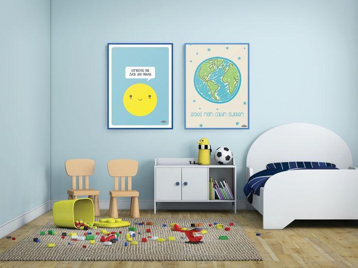 plakaty z typografią w pokoju dziecięcym