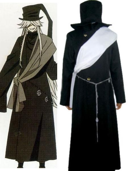 Handsome Black Butler Cosplay Undertaker Costume Cheap Sell