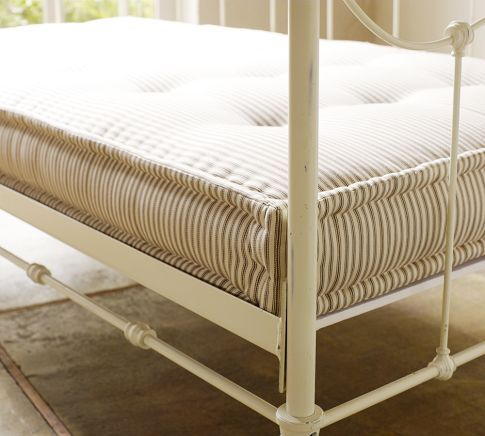 "PB has an upholstered daybed mattress 39 x 75 x 6"" -- currently on sale (11/6/11)."