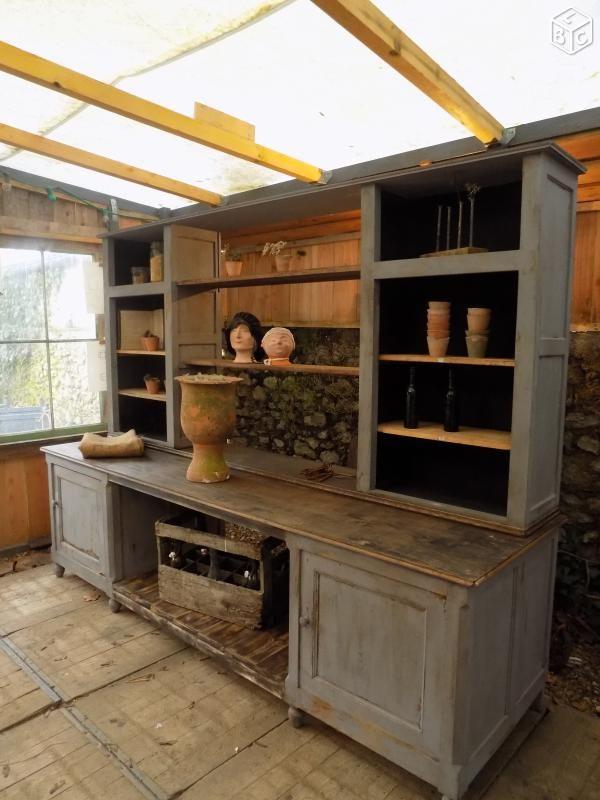 Ancien meuble presentoir commerce