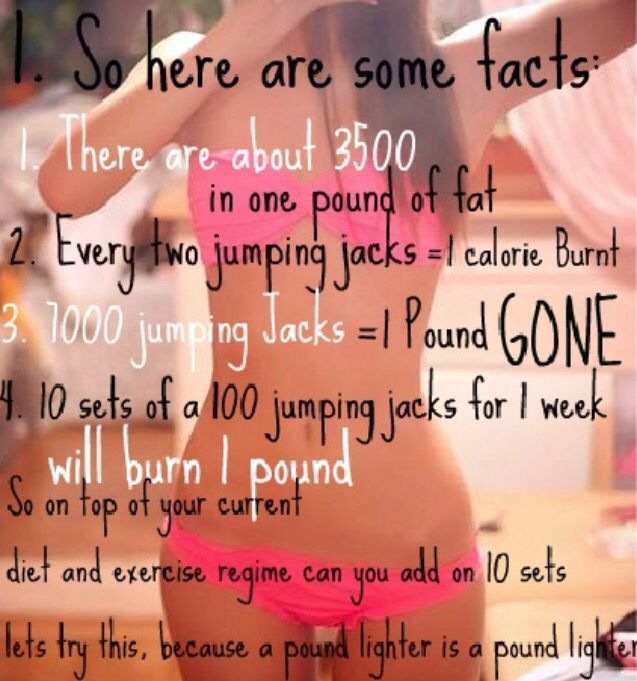 Jumping jack calorie burner facts