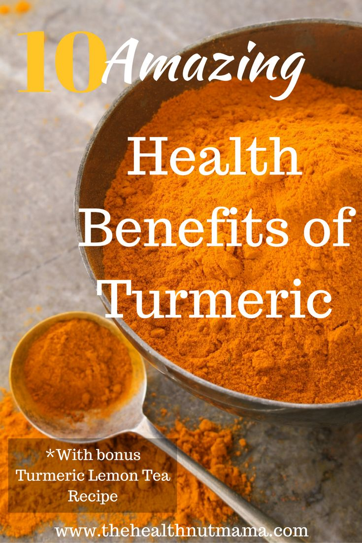10 Amazing Benefits of Turmeric! Find out why you should be including this miracle spice in your diet every day! Bonues recipe included! www.thehealthnutmama.com