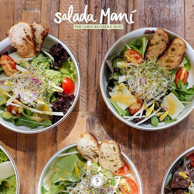 Da premiada chef Helena Rizzo, o mix de folhas acompanha molho à base de melaço de cana, limão siciliano e mostarda