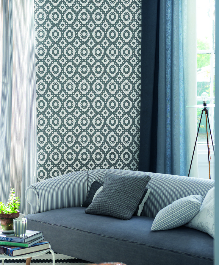 designers guild melusine wallpaper tapeten pinterest. Black Bedroom Furniture Sets. Home Design Ideas