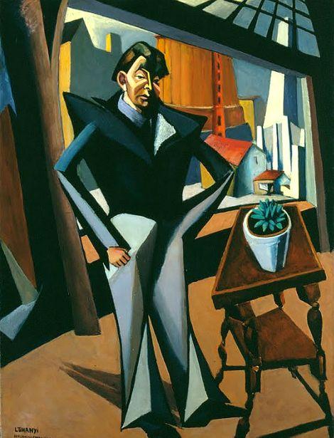 Tihanyi Lajos, Man Standing at a Window (1922) on ArtStack #tihanyi-lajos #art