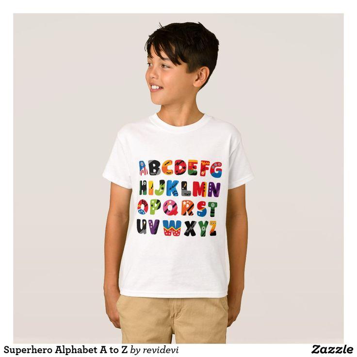Superhero Alphabet A to Z T-Shirt