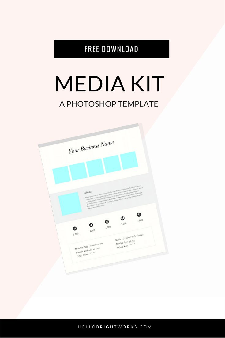 Grab free access to a free Media Kit template in our library of free, downloadable resources for business owners. INCLUDES: new templates & checklists, including: a Media Kit Template, a Website Style Sheet (with fillable fields), a Website Launch Checklist & more! Get your free access pass now at www.hellobrightworks.com