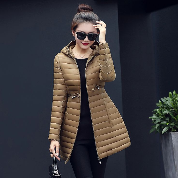 2016 New Female Warm Winter Jacket Women Coat Thin Down Cotton Parka Ultra-light Cotton-padded Jacket Long Elegant Outwear