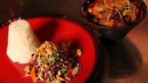 Braised Ginger Pork Belly with Burmese Tea Leaf Salad