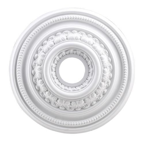 English Study White 18-Inch Ceiling Medallion