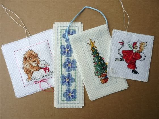 Flat finishes are ideal for bookmarks and gift tags but they make very nice ornaments as well.