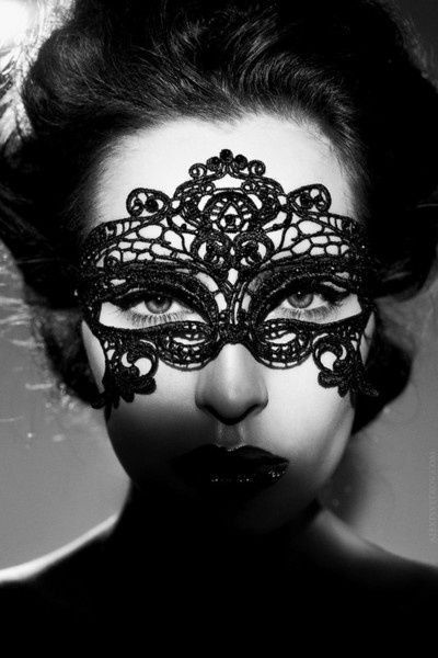 Halloween Party Mask Embroidery Lace Mask Black by LaceDecoration, $6.95