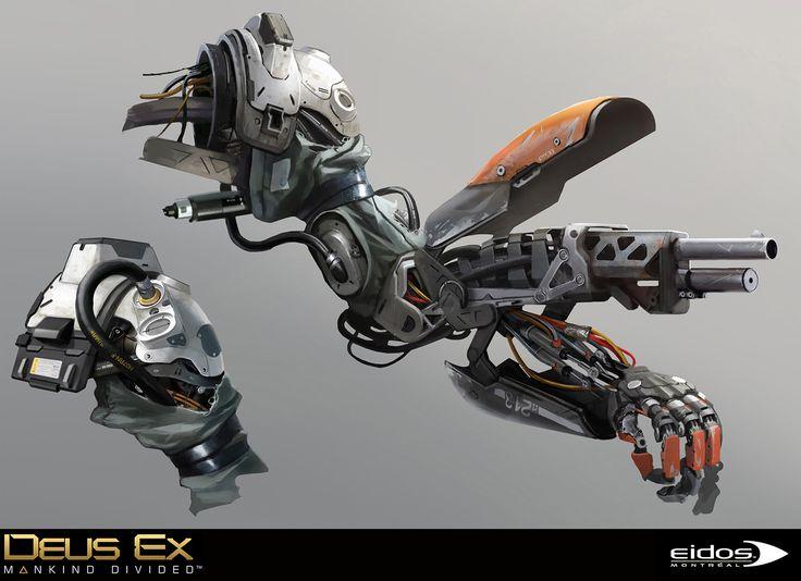 Deus Ex Mankind Divided - Aug Gun, Bruno Gauthier Leblanc on ArtStation at https://www.artstation.com/artwork/ee1Vb