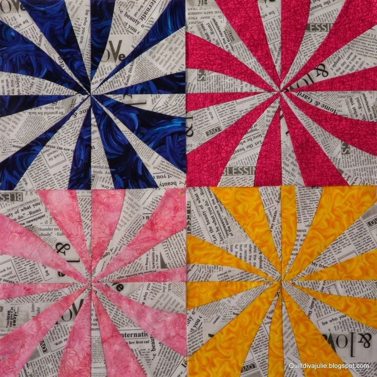 Blocks by Quiltdivajulie - Sujata's Peppermint Pinwheels design