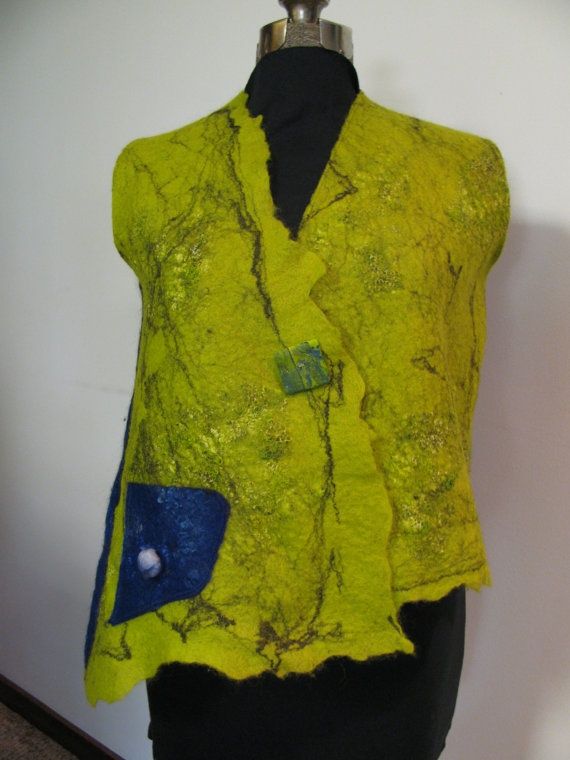 nuno felted with Finn wool by Irene Dizes, Hands on Creativity