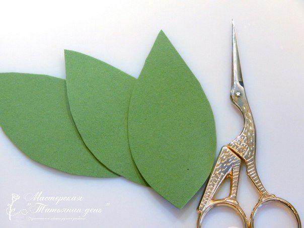 Двор-декор. Рукоделие и творчество: Варим фоамиран или листья без утюга.