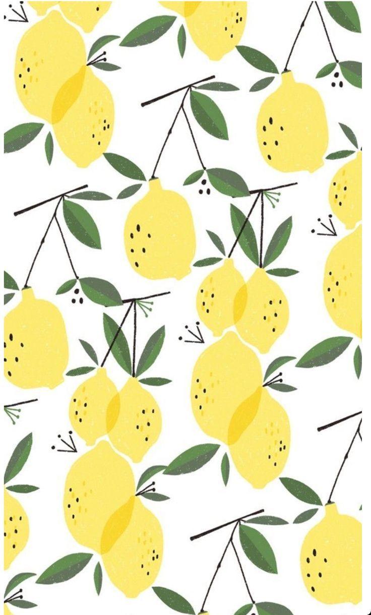 Cutest Screen Saver Ever For The Summer Wallpaper Iphone Summer Lemon Patterns Print Design Pattern