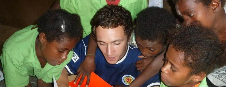 Robbie teaching in Vanuatu