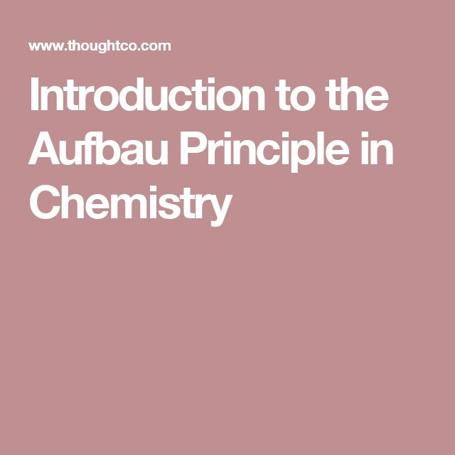 Introduction to the Aufbau Principle in Chemistry