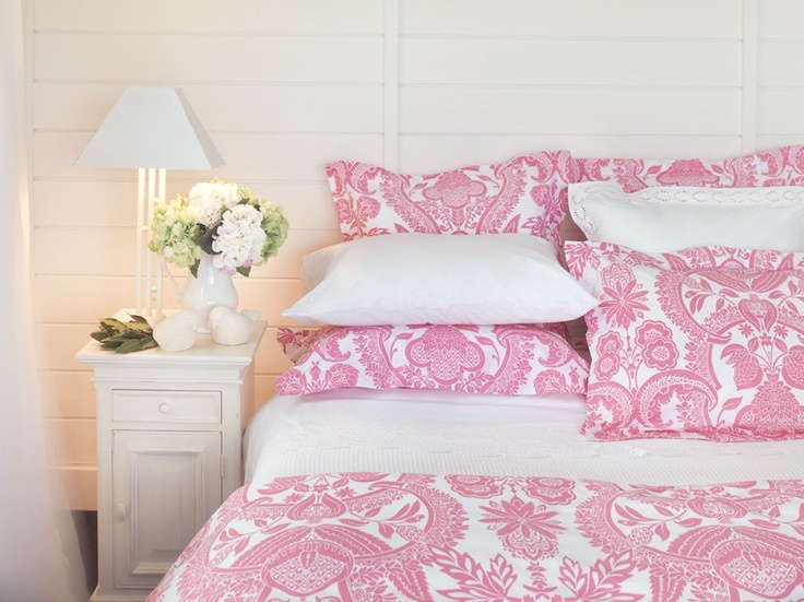 Duvet Cover Sets - Indira Duvet Set - Pink - Wallace Cotton.....  Birthday Pressie Found!!!