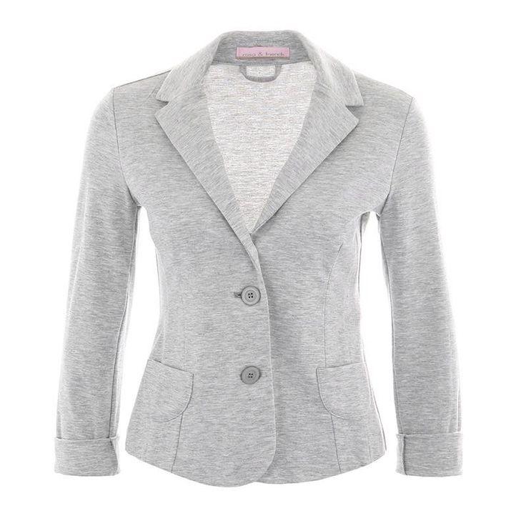 A basic piece for everyday: our grey melange blazer