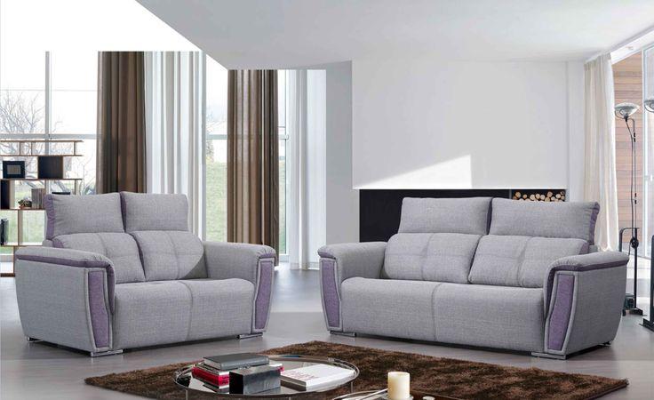 Canapé en Tissu Gris 2 places / 3 places. Fabriqué en Europe #agadir #maroc #canapé #salon #sejour #meubles #deco #home #interiorinspiration #interiordesign #interior #design #sofa #comfort #lifestyle #furniture #homefurniture #madeineurope #living #homedesign #interior #designlovers #homedecor