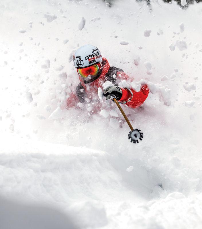 Skiing Deep Powder - Utah