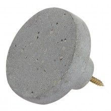 ZAKKIA Concrete Wall Hook --- This wall hook is made from a mix of polystone and concrete powder, making it super strong without losing the concrete look and feel. Comes with the screw and a wall plug, ready to be installed.Measurement: Diameter 8 x Height 5 cm