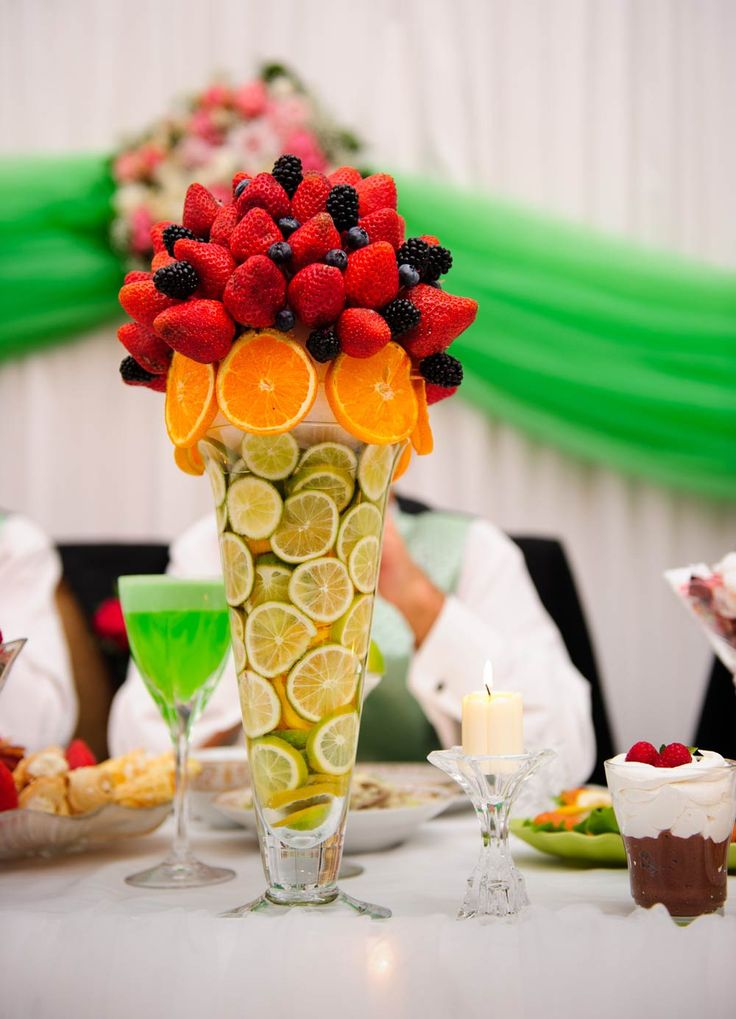 Fruity table centrepiece