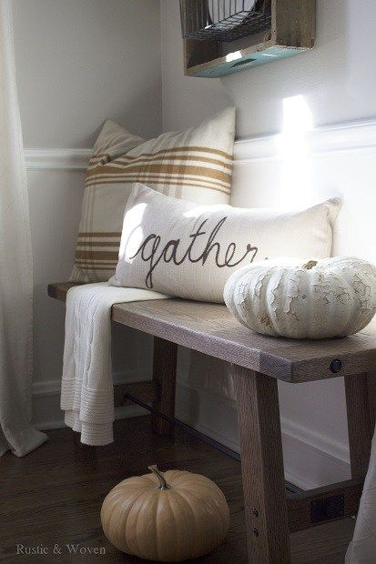 Such a cozy place!!!  20+ Inspiring DIY Rustic Fall Decor Ideas | The Crafting Nook by Titicrafty
