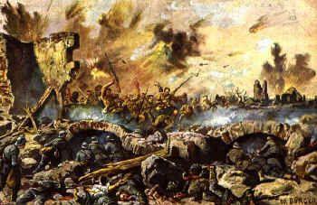 de Slag aan de Somme 1916, Deze slag was gepland door de geallieerden, er gingen zeven dagen aan vooraf voordat de aanval echt plaatsvond. Dat komt omdat het Britse leger bomaanslagen van te voren deed in de hoop zoveel mogelijk Duitsers uit te roeien. Toen ze eenmaal gingen aanvallen kwamen ze erachter dat de bomaanslagen mislukt waren, hierdoor vielen er tijdens deze slag een hoop doden en gewonden.