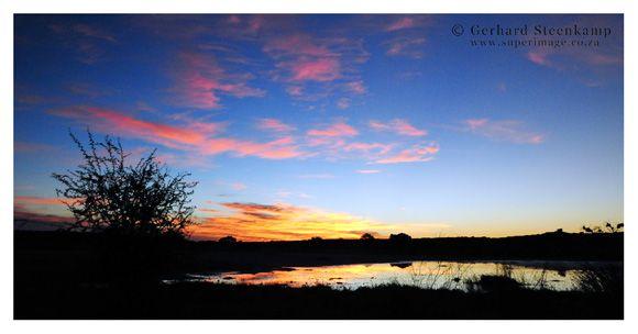 Sunset, Kgalagadi Transfrontier Park, South Africa