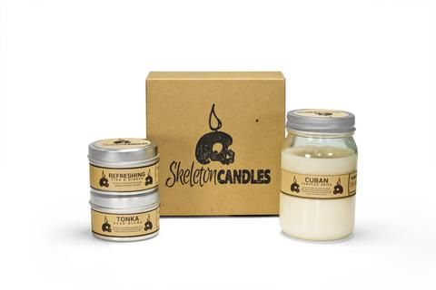 Soy Candle Box Subscription | skeleton candles