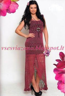 ВСЕ СВЯЗАНО. ROSOMAHA.: Платье из льняной пряжи спицами. Летняя красота!