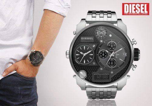 Εντυπωσιακά μεγάλο ανδρικό ρολόι Diesel DZ7221 Mr. Daddy! Μόνο 199,00€