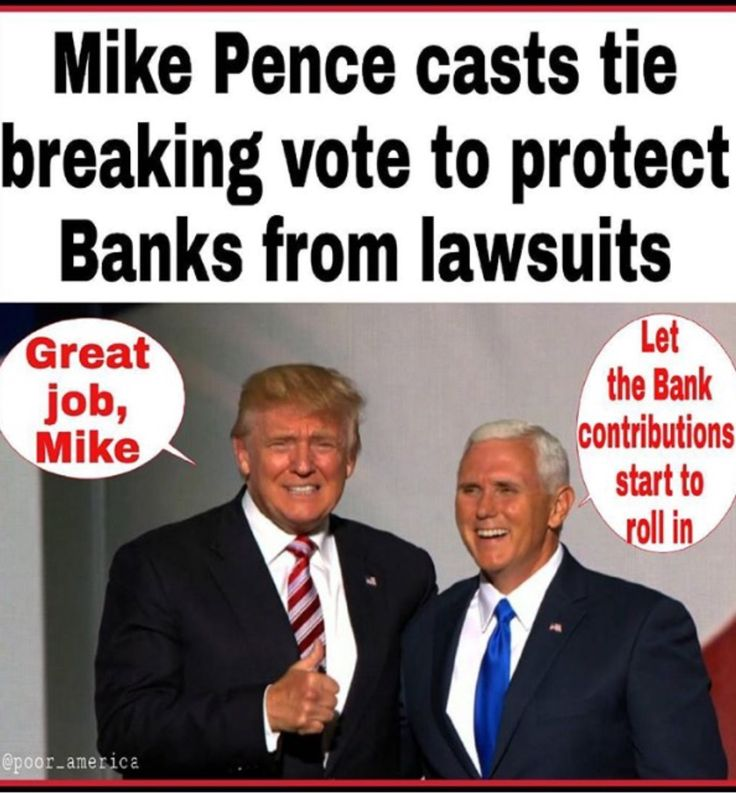 Now Millions of Donations/Bribes from the Banking Industry will flow into the pockets of these two & every Republican who voted & passed this bill. Understand America: your rights to sue Banks for illegal, wrong doing IS GONE!!!