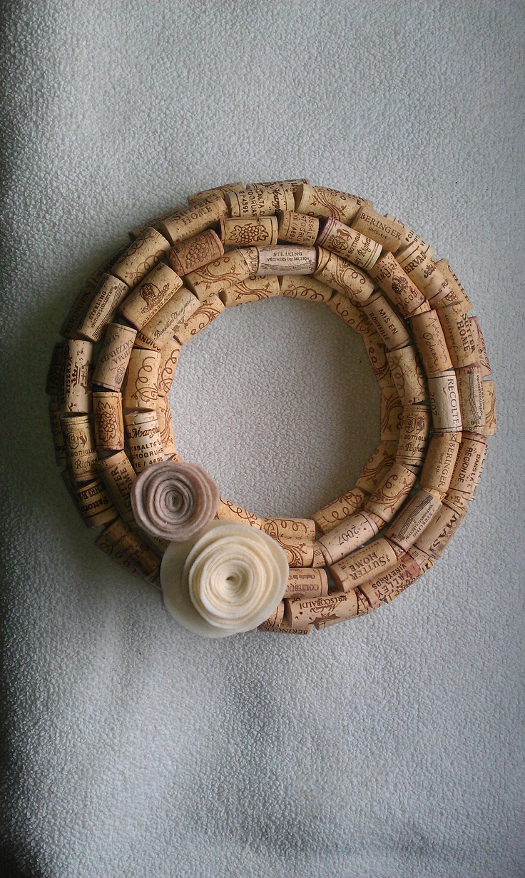 Wine cork wreath I made after seeing it here (http://www.etsy.com/listing/71747371/handmade-real-wine-cork-wreath-natural?ref=sr_gallery_35&ga;_search_submit=&ga;_search_query=wreaths&ga;_view_type=gallery&ga;_ship_to=US&ga;_page=37&ga;_search_type=handmade&ga;_facet=handmade).