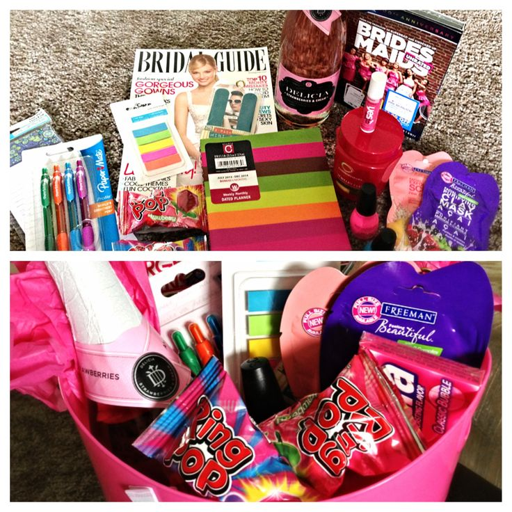 Engagement gift idea?! Create a fun basket filled with