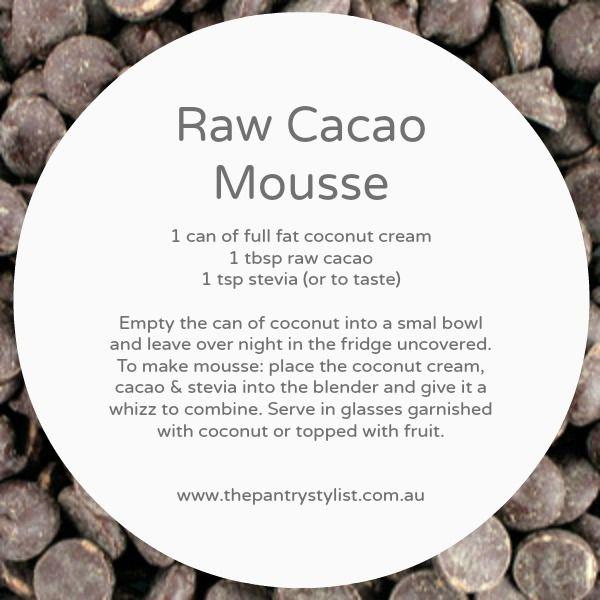 Raw cacao mousse  #vegan #health #paleo #recipe