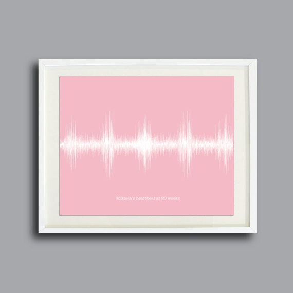 Your+Baby's+Heartbeat+Personalized+Wall+Art+by+ArtsyVoiceprint,+$32.00
