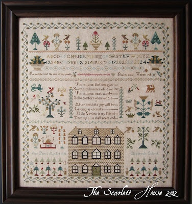 The Scarlett HousePriest 1841, Prayer Rugs, Anne Priest, Crosses Stitches, Reproduction Sampler,  Prayer Mats, House Anne, Scarlett House, Stitches Pattern