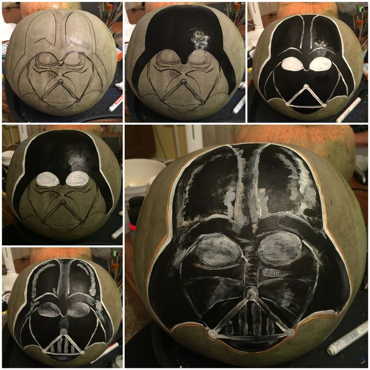 Image result for painted pumpkin darth vader