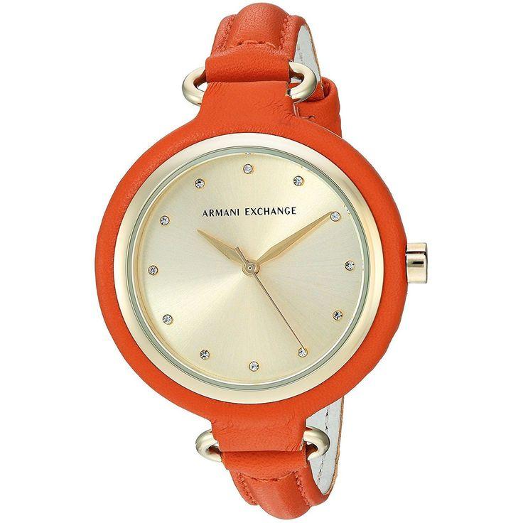 Armani Exchange Women's AX4243 'Smart' Crystal Orange Watch