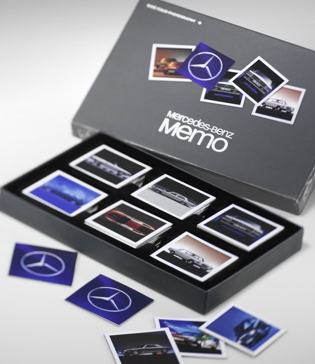 Memo Young Classics B66955498 Sales text - Retail: Β Β Β  Memo memory game, Young Classics edition.  2 x 34 cards, featuring colour motifs of classic cars. Slip-lid box, printed with motif.  Black velour/nylon recesses inside. Card size: 6 x 6 cm.