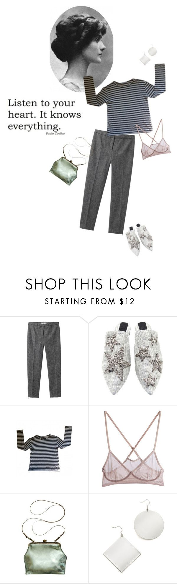 """Écoute ton cœur"" by tasteofbliss ❤ liked on Polyvore featuring Chanel, Grey Line By Hussein Chalayan, Sanayi 313, T By Alexander Wang, Mimi Berry and Kenneth Jay Lane"
