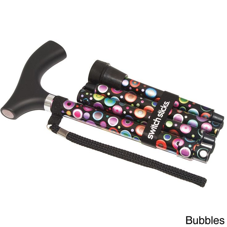 Switch Sticks has revolutionized institutional walking aids into fun, giftable, fashionable accessories. This foldable walking features a variety of bold, colorful patterns, and helps consumers age in