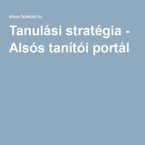 Tanulási stratégia - Alsós tanítói portál