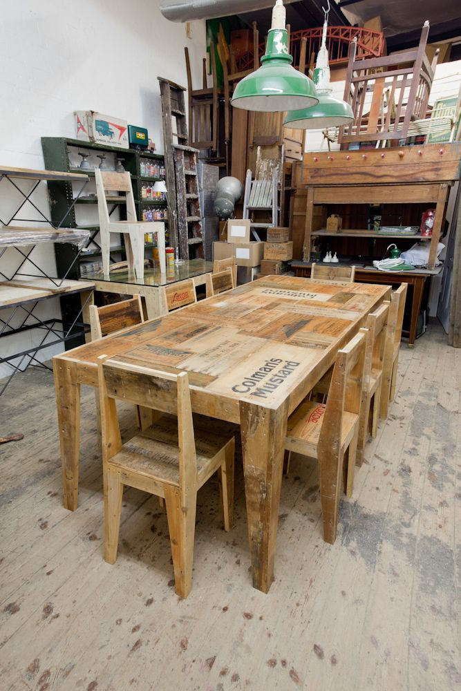 Rupert Blanchard | Designer and Maker - Love this table made out of old packing crates