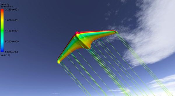 NACA airfoil based aeroplane model simulation with ANSYS Fluent. Free download Fluent case file here: http://fetchcfd.com/view-project/668 #CFD #airplane #engineering #FluidDynamics #AeroSpace #fluidMechanics #aircraft #horten #airfoil #naca #ansys #fluent #physics #computationalfluiddynamics #simulation