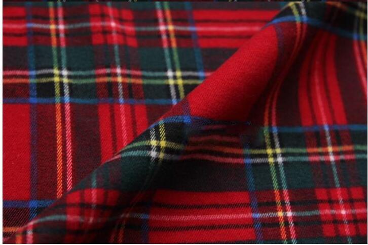 Американский стиль элегантный красный плед растянуть щеткой ткань для шитья и полиэстера ткани для одежды SP4025 БЕСПЛАТНАЯ ДОСТАВКА